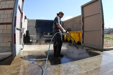 Dumpster Area cleaning from Grease Masters
